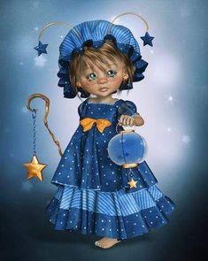 LittleDesign: Little Star Collector Holly Hobbie, Girl Cartoon, Cute Cartoon, Little Star, Little Girls, Little Designs, Star Girl, 5d Diamond Painting, Drawing Skills