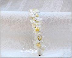 Wedding Flower Crown   Bridal Floral  Headpiece  by carellya, $79.00