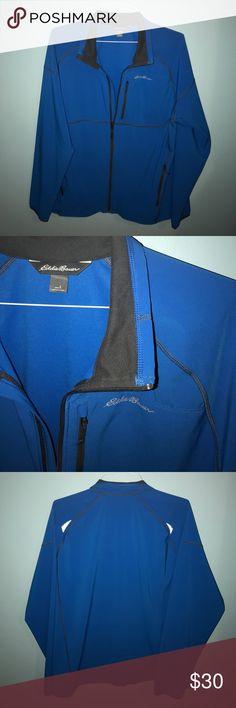 Men's Eddie Bauer blue zip up jacket Lightweight but still warm! Eddie Bauer Jackets & Coats