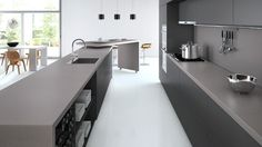 Caesarstone - sleek concrete solid surface counter