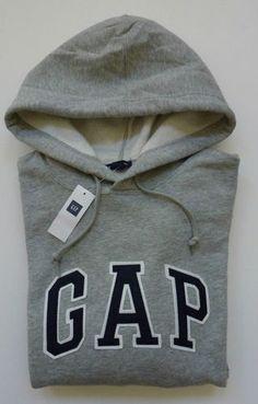 Mens GAP Logo GRAY HOODIE SWEATSHIRT Sizes XS, S, M , L, XL, 2XL - NWT