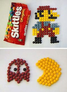 Skittles art! yummy