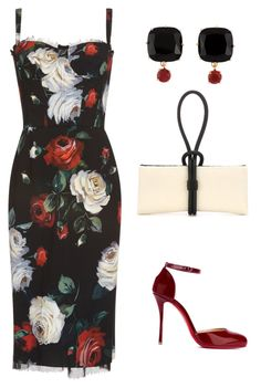 """""""Untitled #551"""" by mchlap on Polyvore featuring Dolce&Gabbana, Les Néréides, Tom Ford and Christian Louboutin"""