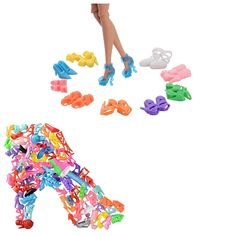 60 Pairs Barbie Shoes High Heels Boots Doll Accessories Shoes for Barbie Doll US #ASIV