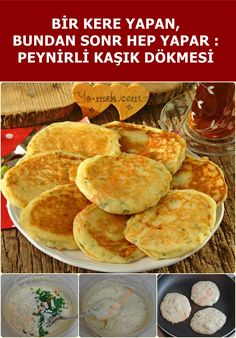 Peynirli Kaşık Dökmesi We added a little cheese to the spoon, we added a flavor to the flavor 🙂 Don't try this recipe. Turkish Kitchen, Joy Of Cooking, Snack Recipes, Snacks, Turkish Recipes, Food Porn, Creative Food, Bread Baking, Fun Desserts