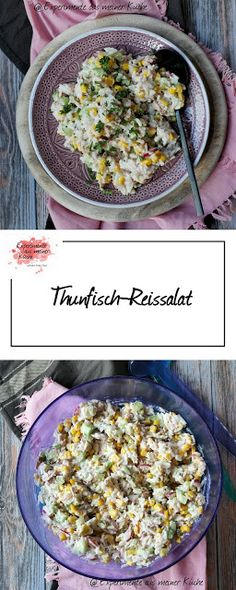 Tuna Rice Salad – Famous Last Words Tuna Rice Salad, Rice Salad Recipes, Rice Recipes For Dinner, Healthy Pasta Recipes, Healthy Pastas, Healthy Snacks, Pizza Und Pasta, Goat Cheese Pasta, Mediterranean Pasta