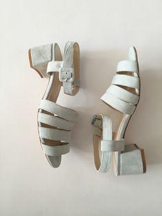 Maryam Nassir Zadeh Palma Low Heel Sandal - Mint Suede