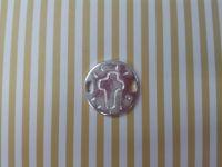 entrepieza cruz 20 mm diametro con dos huecos - Vista detallada del artículo - Cuentas, zamak,fornituras,piedras semipreciosas, cuero...