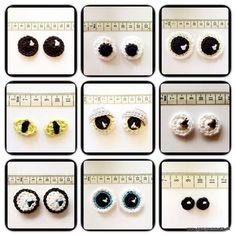 Amigurumi How to Crocheted Eyes - Tutorial English Translation here: https://translate.google.com.co/translate?hl=es&sl=da&tl=en&u=http%3A%2F%2Fgarngrammatik.dk%2Fgratis-haekleopskrifter%2Fhaeklet-pynt%2Fhaeklede-oejne%2F ❥ 4U // hf http://www.pinterest.com/hilariafina/: