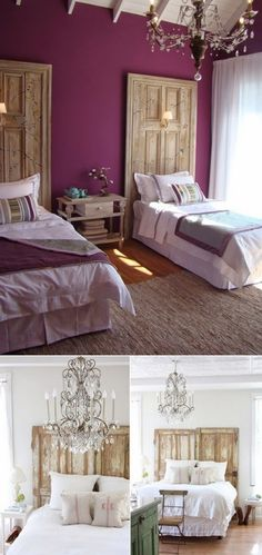 Are you looking for purple bedroom design concepts? Pleased and regal, or soft and wonderful, the variety of purple tones is incomparable. Check out these purple bedroom ideas! Jewel Tone Bedroom, Purple Bedrooms, Plum Bedroom, Purple Bedroom Walls, Master Bedroom, Bedroom Colors, Purple Walls, Plum Walls, Maroon Walls