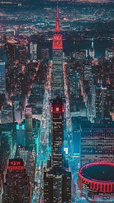 New York City Night Glow iPhone Wallpaper - iPhone Wallpapers