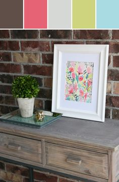 Modern Flowers Print II Designed By Hattan Home via Stylyze