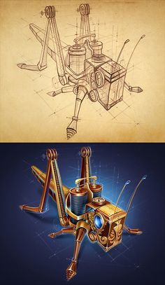 Steampunk 2012-2013 by Mike, via Behance