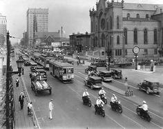 Broadway Street looking East from 7th Street 1932 Louisville, Ky - Google Search