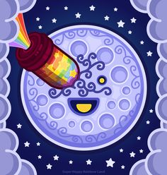 A Trip to the Moon! Moon Illustration, Stars And Moon, Day