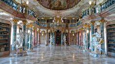 Wiblingen Monastery Library in Ulm, Germany
