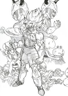 yo friends this is my drawing for the new OAV about baddack side story ^^ who i liked a lot. Wrath of baddack Dragon Ball Z, Adult Coloring Pages, Coloring Books, Dbz Drawings, Manga Dragon, Ball Drawing, Japanese Tattoo Art, Anime Character Drawing, Fan Art