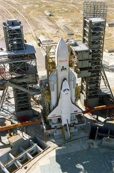 Energia-Buran on pad 110. Too bad it never really became an active program. It looks like the Russian spies were very active getting the US Space Shuttle's specs.