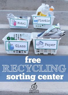 free recycling sorting center for earth day and science from theclassroomcreat…. free recycling sorting center for earth day and science from theclassroomcreat… Kindergarten Science, Preschool Lessons, Science Center Preschool, Creative Curriculum Preschool, Elementary Science, Earth Day Activities, Science Activities, Nursery Activities, Recycling For Kids