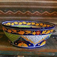 Gorky Gonzalez Mexican Sink  Helechos Verdes | Mexican Ceramics, Vessel Sink  And Powder Room