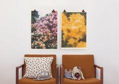 Pair of our prints. #printclubboston #screenprint #floral