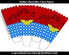 Kit festa infantil mulher maravilha, completo gratuito Wonder Woman Birthday, Diy, Party, Crafts, Hero, Party Kit, Ideas Party, Kids Part, Craft