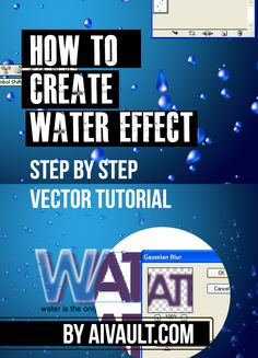 Vector Tutorial : Create a cool Water Text Effect dripping texture