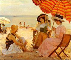 The Beach, Alfred Victor Fourmier.