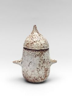 Michel and Nicole Anasse; Glazed Stoneware Lidded Vessel, 1965.