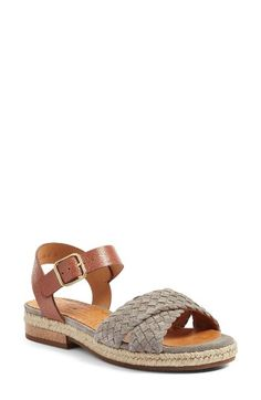 Free shipping and returns on Chie Mihara Hena Sandal (Women) at Nordstrom.com. An otherwise classic sandal gets an appealingly sophisticated upgrade from a striking textural interplay between the pebbled-leather quarter straps, braided suede toe straps and espadrille trim.