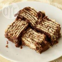 Pavê de chocolate simples @ allrecipes.com.br - Esse pavê de chocolate é muito fácil de fazer! Experimente que vale a pena!
