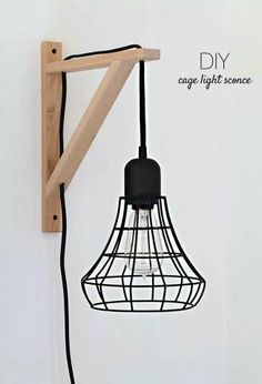 Cage light sconce