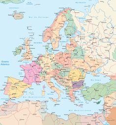 Mapa Políticoterritorial de Europa