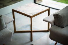 Knoll Marc Krusin side table marble top