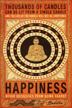 Let ur happiness flow 2wards d others.
