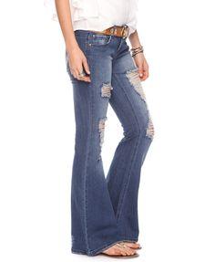 Destroyed Bell Bottom  Jeans