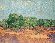 Olive Trees (1889)  By Van Gogh