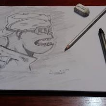 #ilusion_arts #gorillazrussel #demondays #scketchbook