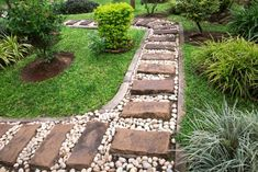 22 Simple Garden Walkway Ideas for the Front Yard - 22 Simple Garden Walkway Id . - 22 Simple Garden Walkway ideas for the front yard – 22 Simple Garden Walkway ideas for the front - Path Design, Landscape Design, Garden Design, Design Ideas, Stone Garden Paths, Garden Stones, Stone Paths, Walkway Garden, Brick Garden
