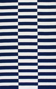 Homespun Blocks Navy Rug | Contemporary Rugs