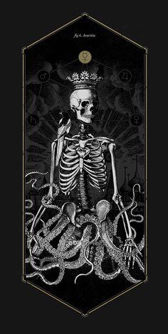 The Anatomy of Sin by Mimetica, via Behance #drawing #dark #skeleton #bones #skull