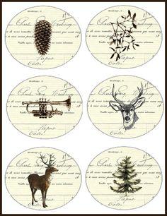 Etiquettes série Noël   Carte Postale FREE sur http://laccrochecoeur.canalblog.com