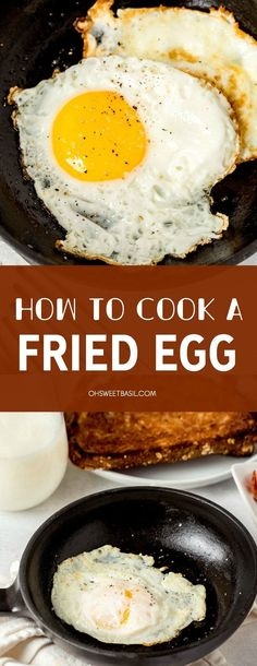 Ever wondered how to cook the perfect fried egg? We have some easy tips on how to get that crispy edge and flavor to add to your next breakfast or sandwich recipe! Sandwich Recipes, Egg Recipes, Real Food Recipes, Great Recipes, Snack Recipes, Breakfast Dishes, What's For Breakfast, Savory Breakfast, Perfect Fried Egg