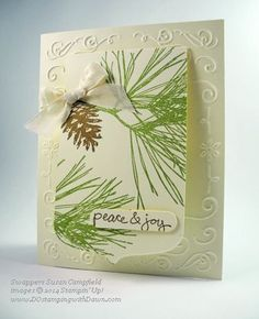 DOstamping with Dawn: Holiday Catalog: Ornamental Pine Swaps: Made by Susan Campfield: