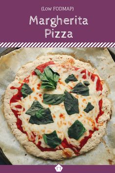 Looking for a way to get pizza back on the menu? Try this low FODMAP Margherita pizza. Made with a FODMAP friendly gluten-free crust and fresh FODMAP. Easy Lunches For Kids, Healthy Meals For Kids, Easy Meals, Fodmap Recipes, Diet Recipes, Healthy Recipes, Fodmap Foods, Pizza Recipes, Lunch Recipes