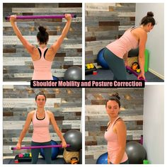 When we're tense our neck and shoulders tend to hurt. Our posture suffers and even have pain. Try these awesome movements and get relief and say AHHH! Neck And Shoulder Exercises, Shoulder Posture, Shoulder Muscles, Shoulder Workout, Shoulder Exercises Physical Therapy, Better Posture Exercises, Posture Correction Exercises, Neck Exercises, Weight Bar Exercises