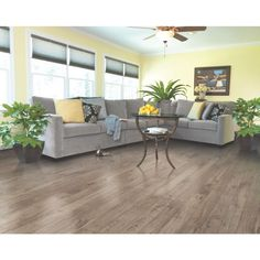 Mohawk 4.86-in x 47.16-in 12mm Reclaime Chestnut Laminate Flooring | Lowe's Canada