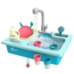 CUTE STONE Color Changing Kitchen Sink Toys, Children Heat Sensitive Electric Dishwasher Playing Toy with Running Water, Automatic Water Cycle System Play House Pretend Role Play Toys for Boys Girls: Toys & Games Toys For Boys, Kids Toys, Toddler Toys, Jouets Fisher Price, Pretend Play Kitchen, Little Girl Toys, Cool Girl Toys, Baby Girl Toys, Water Heating