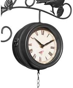 Bird Feeder Clock and Thermometer.
