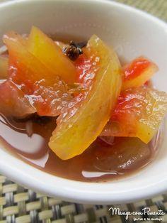 Doce de Casca de Melancia, para não jogar nada fora dessa fruta maravilhosa. Para ver a receita, clique na imagem para ir ao Manga com Pimenta.